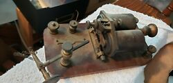 Vintage Jh Bunnell Telegraph Sounder On Wood Base And Parts W E Tel. Co.