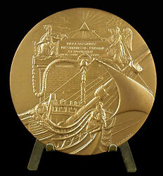 Medal Spaceship Line Of 74 Cannons Straight Land039 Man 1794-1797 Ship Medal