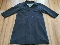 Menandrsquos Black Trench Coat - Size 48l - Free Shipping