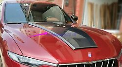 Real Carbon Fiber Front Hood Vented Bonnet Cover For Maserati Levante 2016-2020