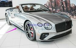 Real Carbon Fiber Side Skirt Side Splitters Cover For Bentley Continental 18-20