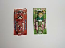 Nintendo Klik Candy Dispensers And Ladder Candy From 2001, Sealed, Mario + Link