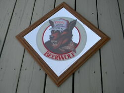 Sweet Minty Vintage 1986 Coors Light Beer Wolf Mirror Sign Golden Colorado