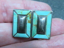 Turquoise Sterling Silver Clip On Earrings