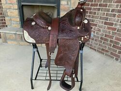 Victor Quality Equitation Western Show Saddle W Sterling Silver