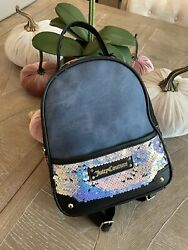 JUICY COUTURE Light Backpack Purse Bag Floral New NWT Black Tropical $34.99