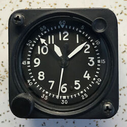 Waltham Precision A-13a-2 20 Jewel Aircraft Chrono Clock White Numbers And Hands