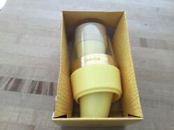 Vintage Solo cup wall bathroom cup dispenser gold with yellow 70#x27;s new
