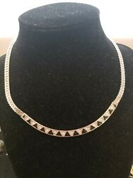 AUTHENTIC GIVENCHY PARIS NEW YORK SILVER NECKLACE $200.00