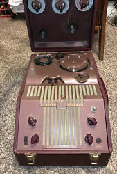 For Repair Vintage Webster Chicago Wire Recorder 288-1 Electronic Memory Rare