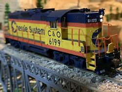 Ho Scale Athearn Genesis Gp9 Phase Ii Dcc Ready Locomotive C And O Chessie System