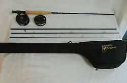 Scientific Anglers Fishing 4 Piece Fly Rod 9and039 6wt. With Original Case Reel Line