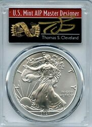 2021 1 American Silver Eagle 1oz Pcgs Ms70 Fs 1 Of 1000 Thomas Cleveland