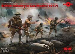Icm 35-703 1/35 British Infantry Equipped With Gas Mask 1917