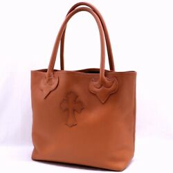 Chrome Hearts Chromehearts Fs Tote Bag Cross Patch Brown 9-911 _97500