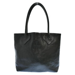 Chrome Hearts Fs Tote Leather Bag With Cross Patch Degree Ab Color Black _97536
