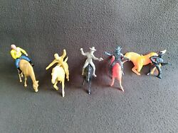 Hartland/ Tim-mee/ Mpc Lot Of Calvary, Cowboys And Horses 70mm To 100mm Figures