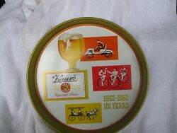 1963 Kaierand039s Special Beer Metal Tray Mahanoy City Pa. Nice
