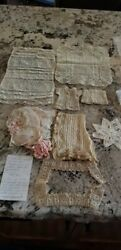 Vintage And Antique Lot Of Lace And Crochet Pieces Including Vintage Lace...