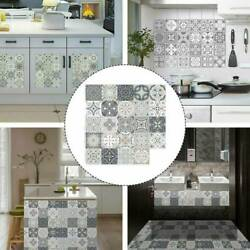 10 24Pcs Moroccan Style Tile Effect Self Adhesive Wall Stickers Kitchen Bathroom