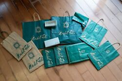 Marshall Fields Bags And Boxes-full Collection-10 Bags And 2 Boxes