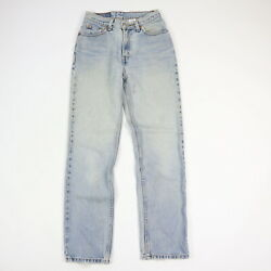 Vintage 90s 512 Slim Straight Jeans Faded Distressed Blue Womens 5 Jr M