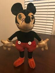 Disney Vintage Toy - Stuffed Mickey Mouse By Charlotte Clark