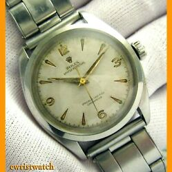 Vintage 50and039s Rolex Oyster Perpetual Chronometer Semi-bubbleback Original Dial