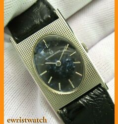 Vintage 70's Universal Geneve Solid 18k White Gold Men's Watch Mint Condition