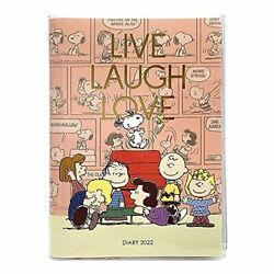 2022 Notebook Peanuts Snoopy Comic Design Diary B6 Weekly Pink
