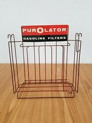 Vintage Purolator Gas Filters Counter Top Display Sign Rack Motor Oil Auto Store