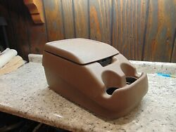 92-96 Ford F150 F250 F350 Bronco Center Console Arm Rest Storage Cup Holder