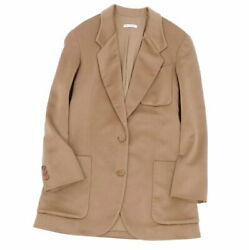Hermes Margiela Period Cashmere Tailored Jacket Outer Women And039s 34 Camel B _73462