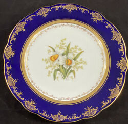 Coalport 6079 Cobalt Blue Gold Encrusted Cabinet Plate Waring And Gillow Oxford St