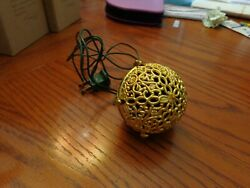 Vintage Gold Electric Song Bird Christmas Ball Tested