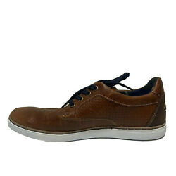 Bull Boxer Brown Leather Shoes Size 42 Men's Lace Up Casual
