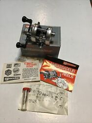 Vintage 1977 Ambassadeur 1500c Casting Reel With Box And Papers Lot F26