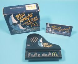 Rare 1988 Mcdonalds Mac Tonight Baby Grand Player Piano Toy Complete As Is