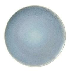 charm beauty Blue Round Stoneware Dinner Plate
