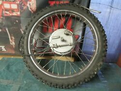 1974 Honda Mt250 Elsinore Front Wheel And Good Tire And039and039complete Bolt And Goand039and039