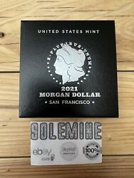 Morgan 2021 Silver Dollar With S Mint Markandnbsp21xf In Hand Free Shipping