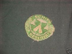 Schiff Scout Reservation Crimped Edge Patch 1940-50's    C22