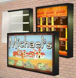 Lightbox Outdoor Led Illuminated Sign With Backlit Graphic 3and039x8and039 Heavy Duty