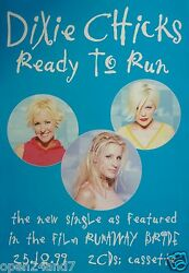 Dixie Chicks Ready To Run - From The Film, Runaway Bride U.k. Promo Poster