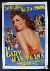 The Lady Has Plans 1sh Movie Poster Architect 1942