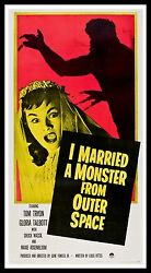I Married A Monster From Outer Space Cinemasterpieces Horror Movie Poster 1958