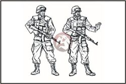 Cmk 1/35 Czech Army Soldiers From Kfor Kosovo Force 2 Figures F35173