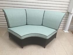 Frontgate Outdoor Patio Newport Wicker Sectional Sofa Cushions Rave Spearment