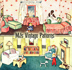 Doll House And Doll Family With Mammy A Vintage Pattern