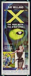 X The Man With The X-ray Eyes Cinemasterpieces Original Movie Poster Insert